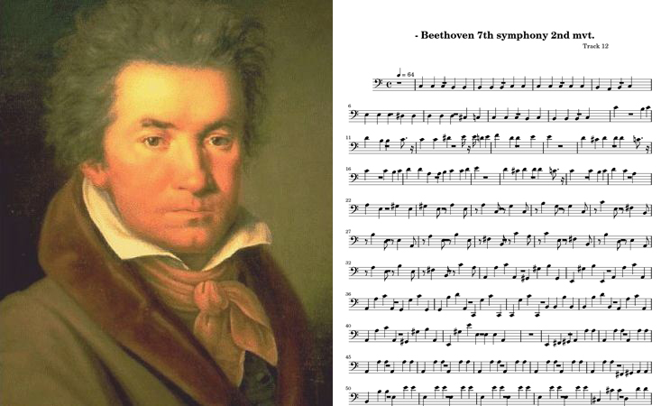 an analysis of beethovens 7th symphony Beethoven himself always rejected requests to come up with a non-musical program to accompany performances of his 7th symphony what was important was the character of the music he said, adding that the work merely represented, one of the happiest.